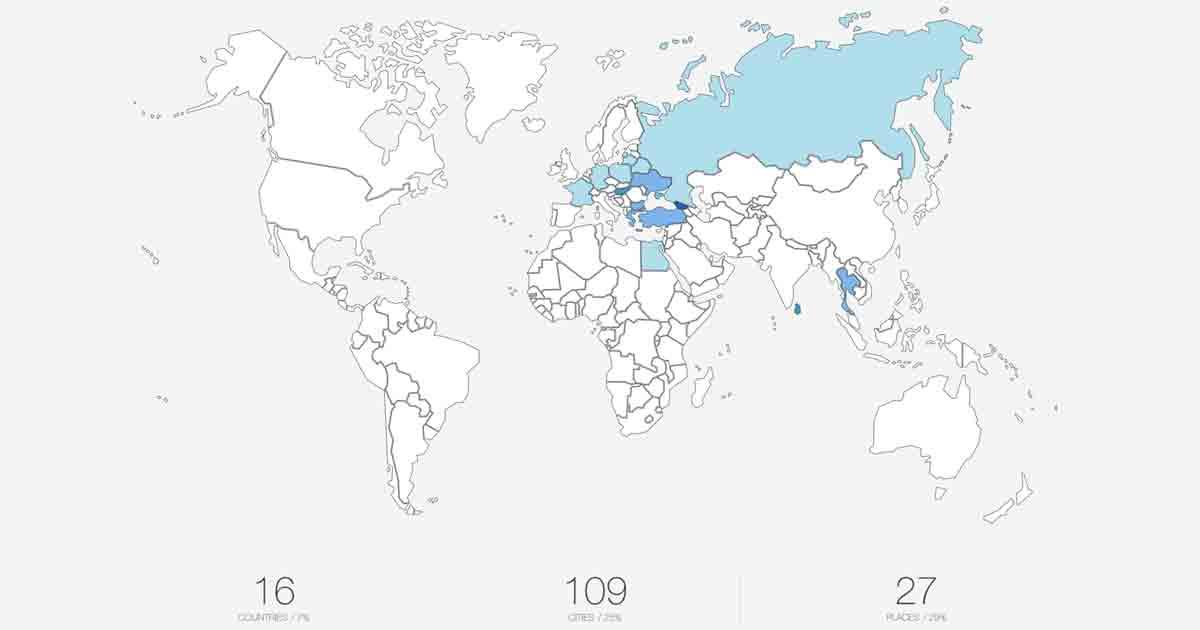 Карта путешествий Ольга Полчанинова