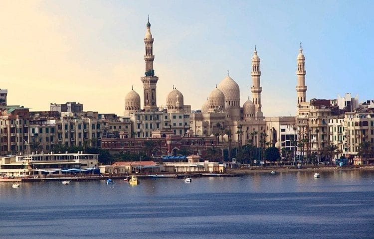 Курортный город Александрия в Египте