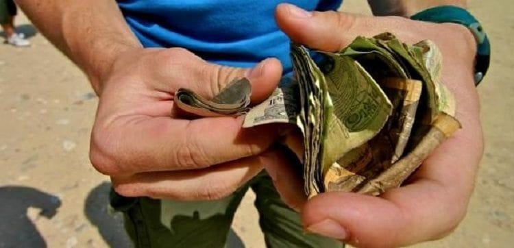 Египетские деньги внешне очень старые
