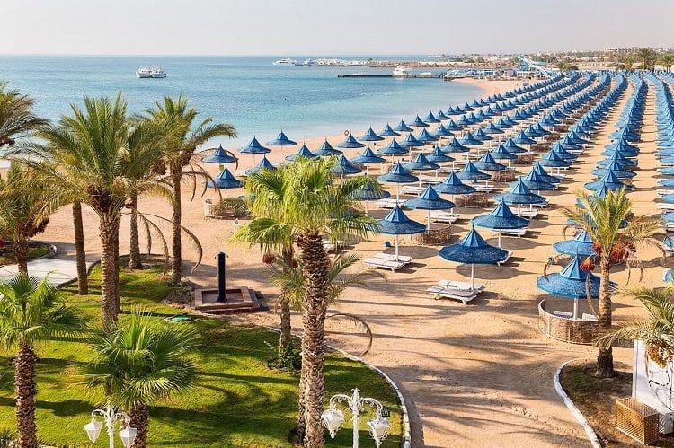 Популярный пляж Хургады